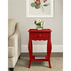 Altra Furniture Kennedy Accent Table in Red