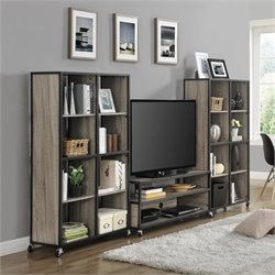 Altra Furniture Mason Ridge 3 Piece Entertainment Center in Sono
