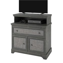 Altra Furniture Stone River 1 Drawer Media Chest in Gray Rodeo Oak