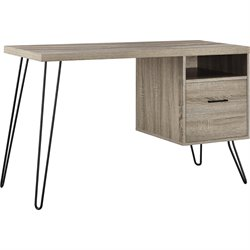 Altra Furniture Landon Writing Desk in Sonoma Oak and Gunmetal Gray