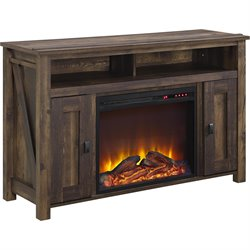 Altra Furniture Farmington 50'' Fireplace TV Stand in Heritage Pine