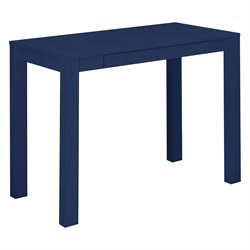 Altra Furniture Parson Writing Desk with Drawer in Navy