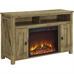 Altra Furniture Farmington 50'' Fireplace TV Stand in Light Pine