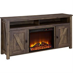 Altra Furniture Farmington 60'' Fireplace TV Stand in Heritage Pine