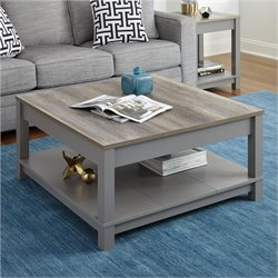Altra Carver Coffee Table in Gray and Sonoma Oak