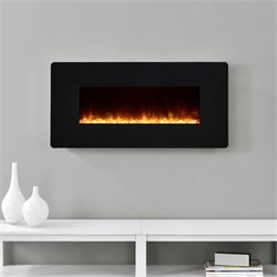 Altra Kenna 35'' Wall Mounted Electric Fireplace in Black