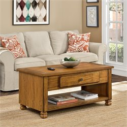 Altra San Antonio Wood Veneer Coffee Table in Tuscany Oak