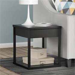 Altra Furniture Delilah Square End Table in Black