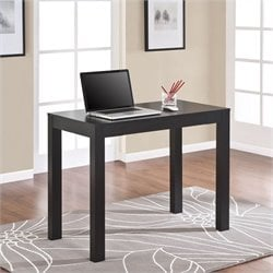 Home Office Desk with Drawer in Black Oak