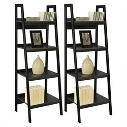 Bookcase in Black (Set of 2)