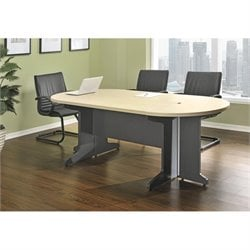 Small Conference Table in Natural and Gray
