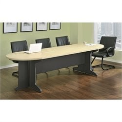 Altra Furniture Benjamin Large Conference Table in Natural and Gray