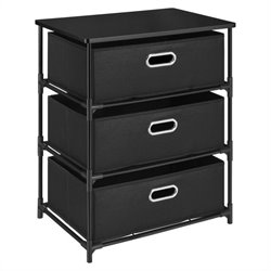 Altra Furniture 3 Bin Storage Unit in Black