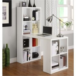 Altra Furniture Hollow Core Hobby Desk in White