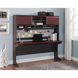 Altra Furniture Pursuit Hutch in Cherry and Gray