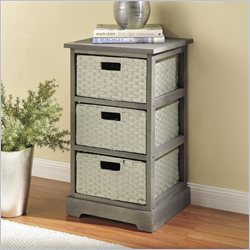 Altra Furniture Storage Unit with 3 Baskets in Gray Finish