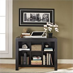 Altra Furniture Desk with Drawer and Bookcase in Black Oak