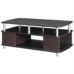 Coffee Table with Storage in Cherry and Black