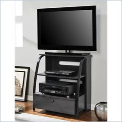Altra Furniture Essex Highboy TV Stand in Ebony and Espresso Finish