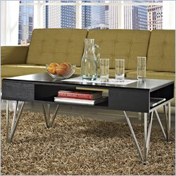 Altra Furniture Rade Coffee Table in Black Oak and Silver Finish
