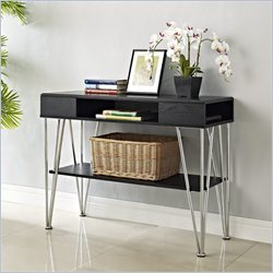 Altra Furniture Rade Console Table in Black Oak and Silver Finish