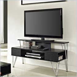 Altra Furniture Rade TV Stand in Black Oak and Silver