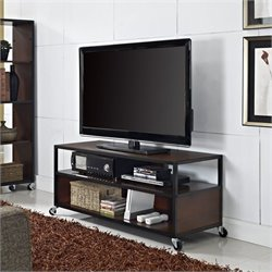 Mobile TV Stand in Cherry Finish