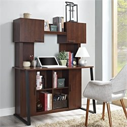 Altra Furniture Empire Desk with Hutch in Cherry Finish