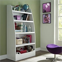 Altra Furniture Kids 4-shelf Bookcase in White Finish