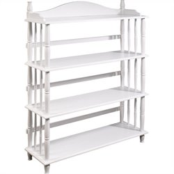 Altra Furniture Daysha 4 Shelf Spindle Leg Bookcase in White