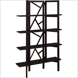 Altra Indo Room Divider and Bookcase in Espresso