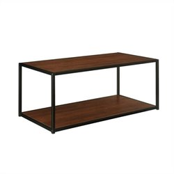 Altra Furniture Coffee Table with Metal Frame in Cherry