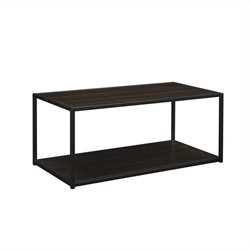 Altra Furniture Coffee Table with Metal Frame in Espresso