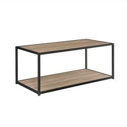 Altra Furniture Coffee Table with Metal Frame in Sonoma Oak