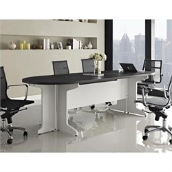 Altra Furniture Pursuit Large Conference Table White and in Gray