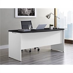 Altra Furniture Pursuit Executive Office Desk in White and Gray