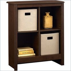 Altra Furniture 4 Cube Storage Cubby Bookcase with 2 Storage Bins in Resort Cherry