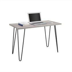Altra Furniture Owen Retro Desk in Sonoma Oak with Gunmetal Gray Metal Legs