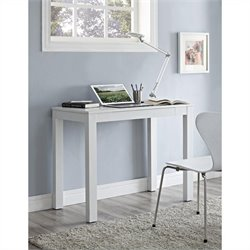 Altra Furniture Parsons Desk with Drawer White with Chevron Pattern Top