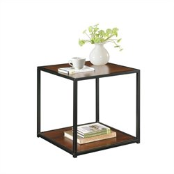Altra Furniture End Table with Metal Frame in Cherry