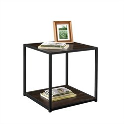 Altra Furniture End Table with Metal Frame in Espresso