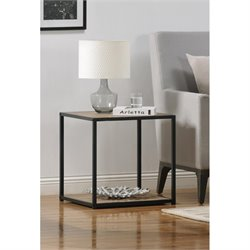 Altra Furniture Canton End Table with Metal Frame in Sonoma Oak