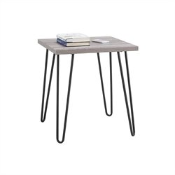 Altra Furniture Owen Square End Table in Rustic Sonoma Oak