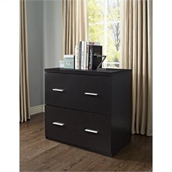 2 Drawer Lateral File Cabinet in Espresso