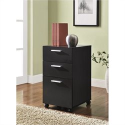 Altra Furniture Princeton 3 Drawer Mobile File Cabinet in Espresso