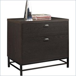 Altra Furniture Manhattan 2 Drawer Lateral File Cabinet in Chocolate