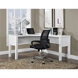 Altra Furniture Princeton L Desk for Home Office in White