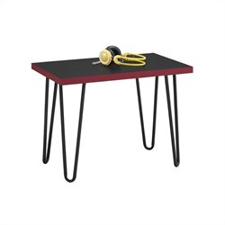 Altra Furniture Owen Retro Stool Black and Red with Black Metal Legs