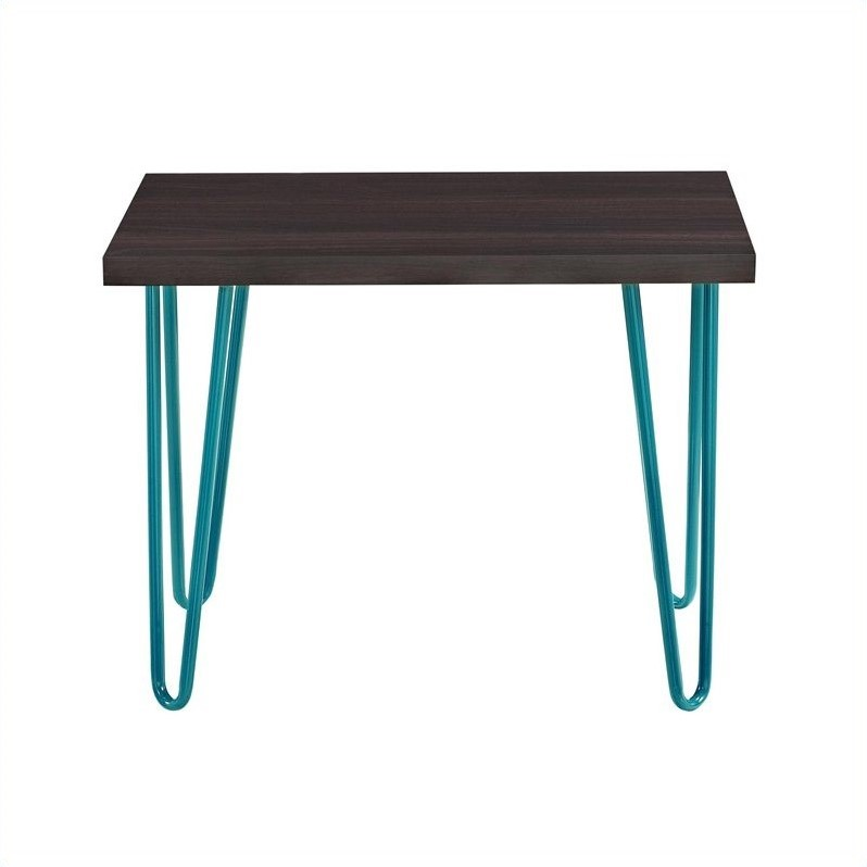 Altra Furniture Owen Retro Stool Espresso Finish With Teal