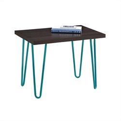 Altra Furniture Owen Retro Stool Espresso Finish with Teal Metal Legs